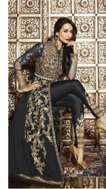 Stylish Embellished Black Suit